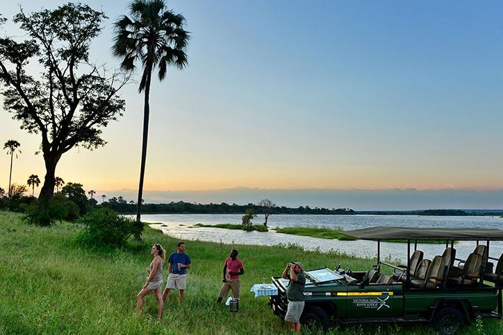 Family Zambia's Livingstone Falls